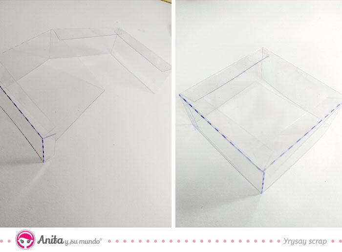 cómo hacer cajas con acetato