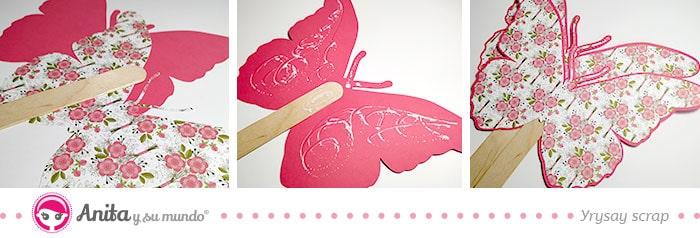 cómo hacer un abanico mariposa