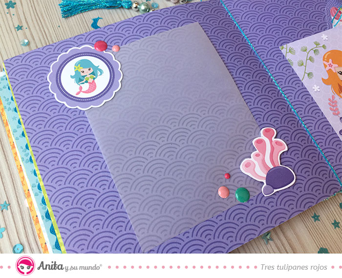 como usar papel vegetal en decoracion scrapbooking