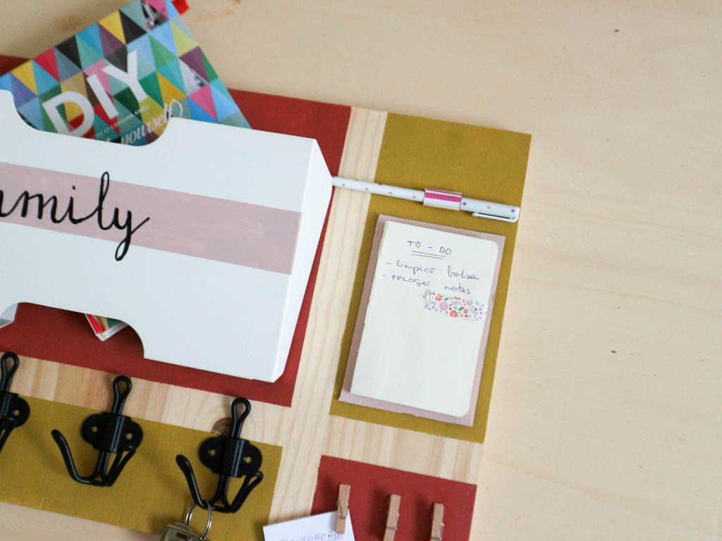 organizador de llaves DIY