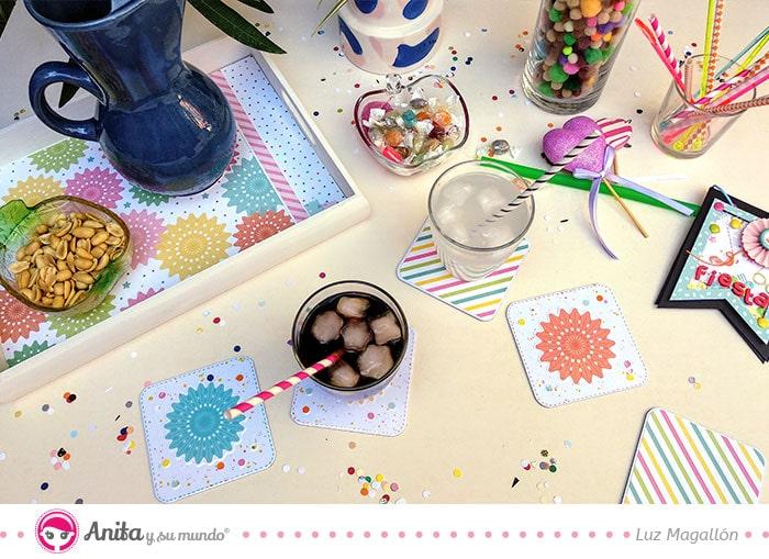cómo decorar una bandeja con papeles facilmente