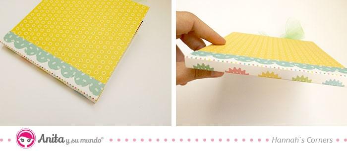 como hacer una encuadernacion con papeles bonitos