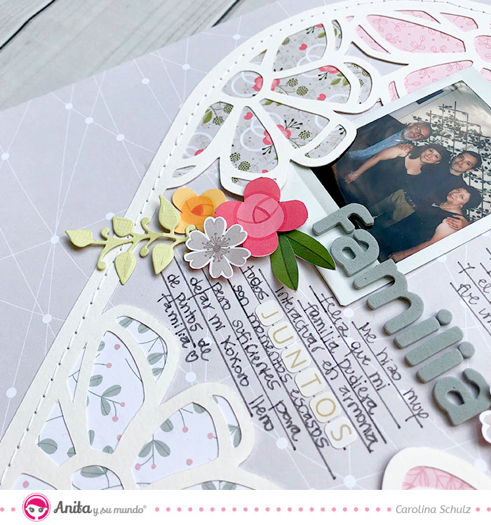 layout scrapbooking con formas