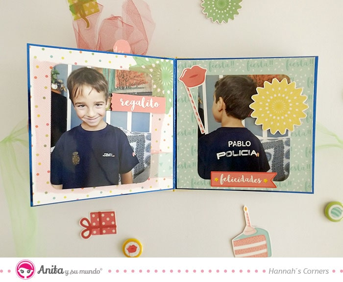 como decorar fotografias con recortables de papel