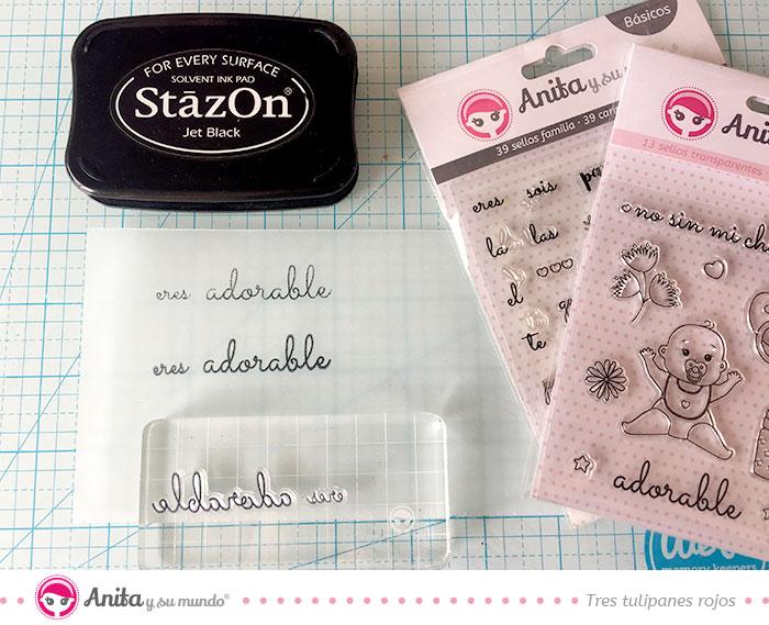 manualidades con sellos de silicona