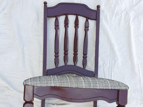 Tutorial restaurar silla madera antigua paso 11