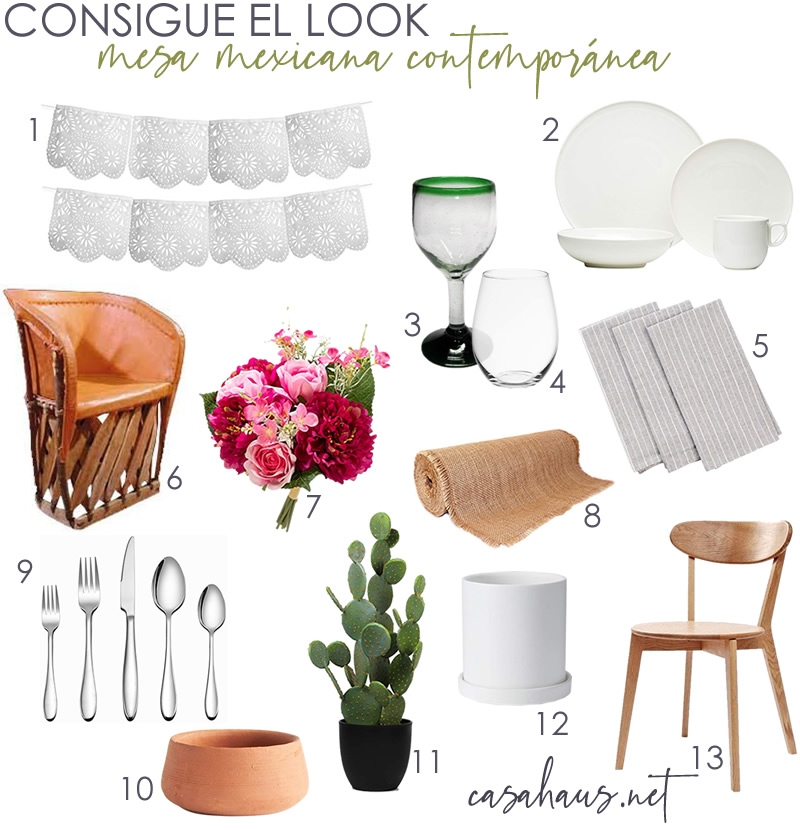 Consigue el look: Mesa Mexicana Contemporánea