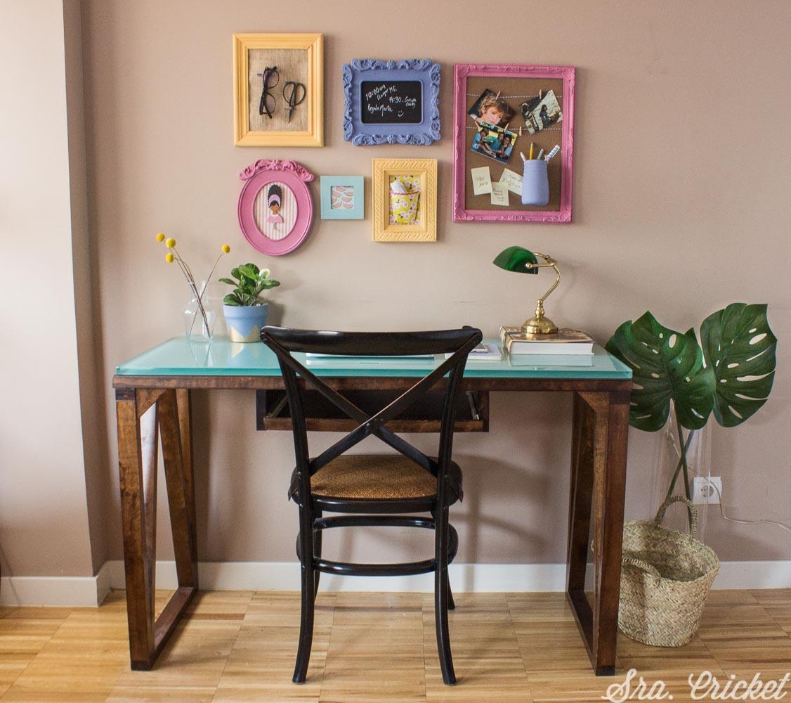 panel de escritorio diy mood board