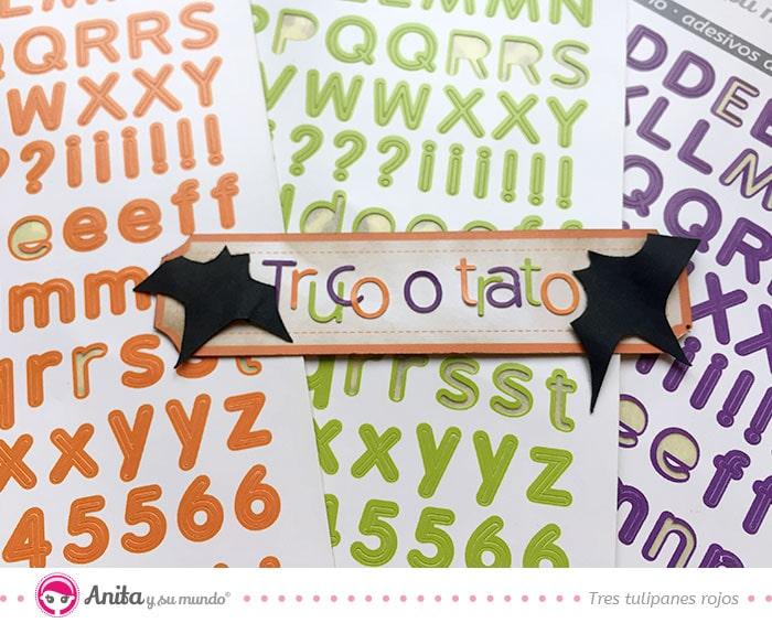 abecedarios adhesivos de halloween