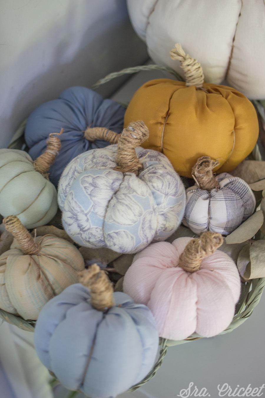 calabazas de tela hechas a mano sin coser