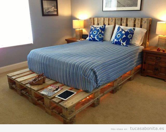 ideas para hacer camas de matrimonio con palets 2