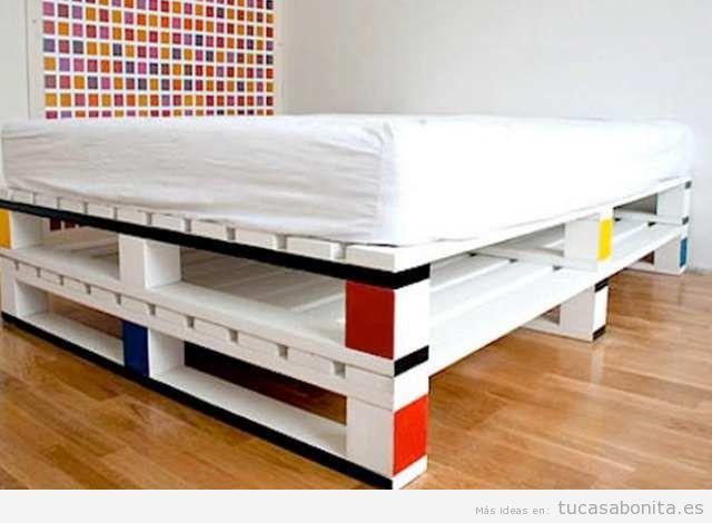 ideas para hacer camas de matrimonio con palets 5