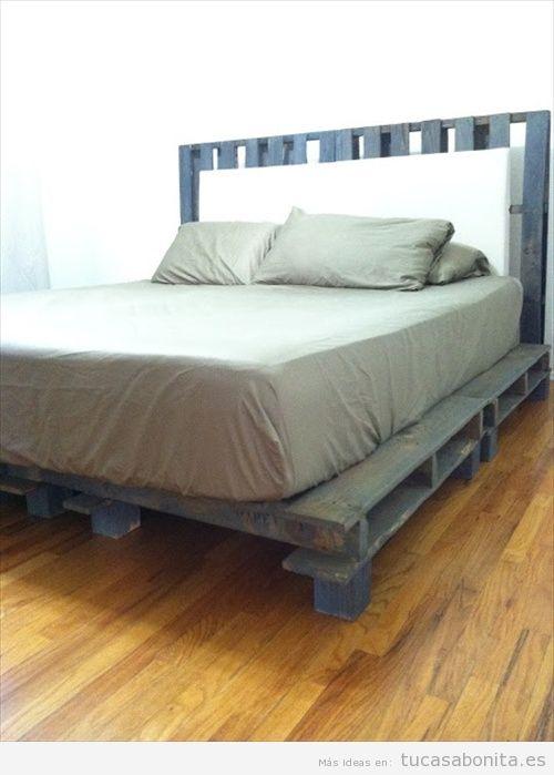 ideas para hacer camas de matrimonio con palets 6