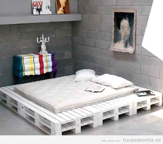 ideas para hacer camas de matrimonio con palets 1