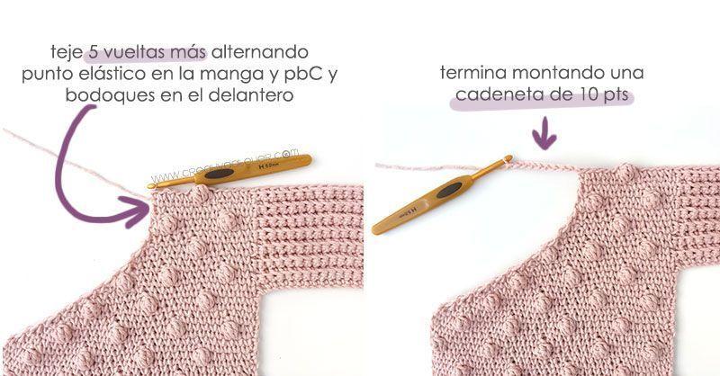 Cómo tejer  una Chaqueta Kimono de crochet de bebé - Patrón y Tutorial -Une las dos piezas delanteras