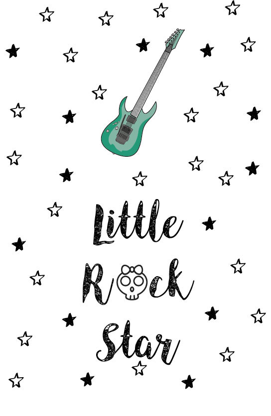 Lamina-imprimible-Little-Rock-Star