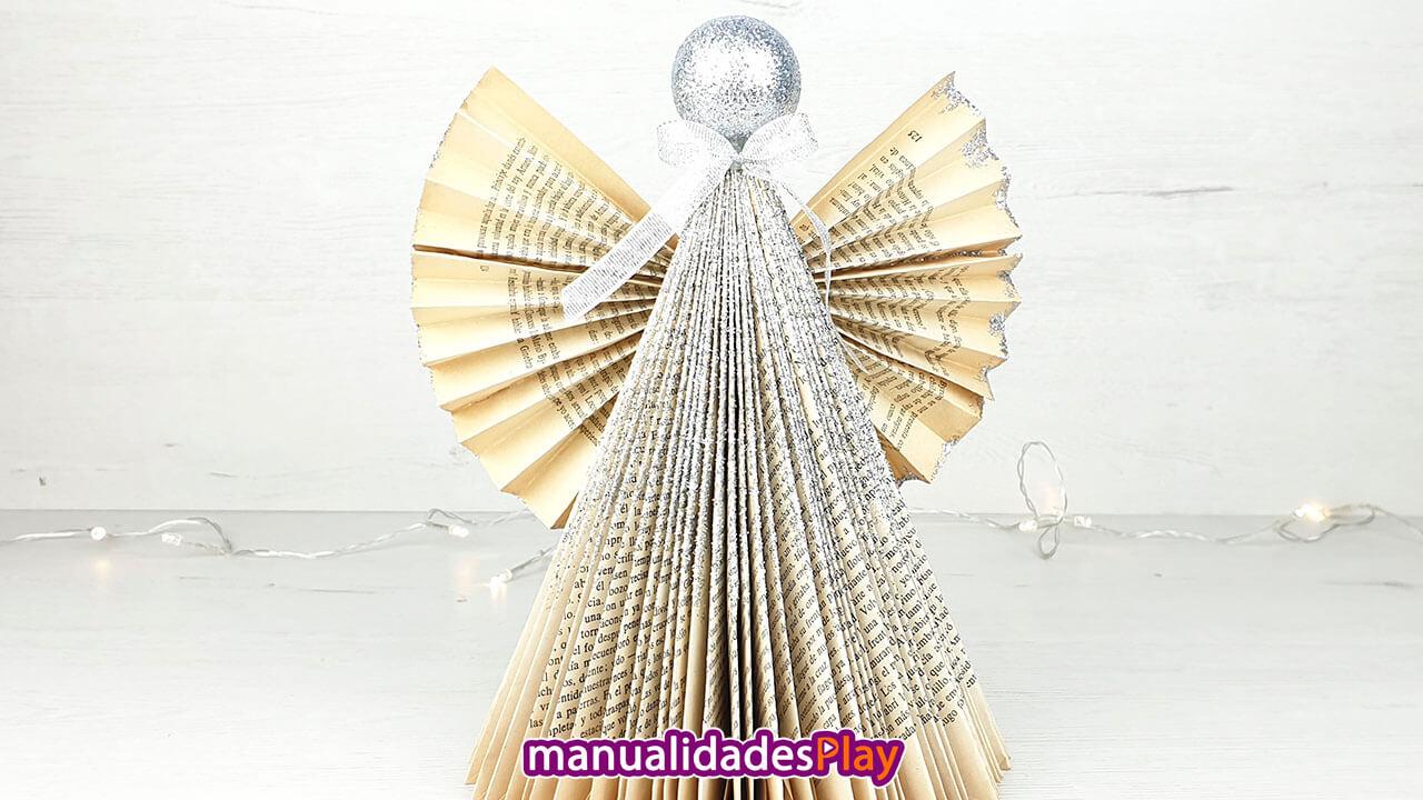 Ángel de papel fácil - Adorno de Navidad DIY