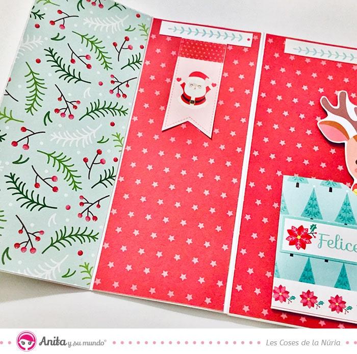 como decorar con papel bonito tarjetas de navidad