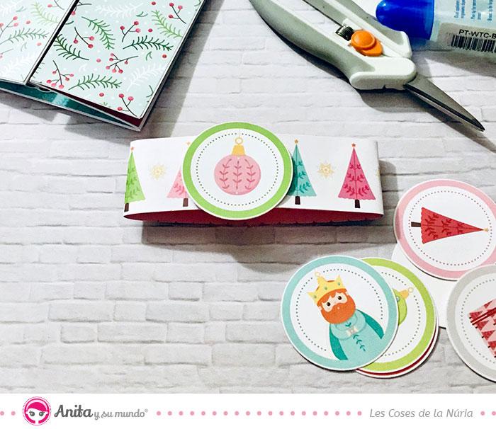 cierre de papel para tarjetas de navidad