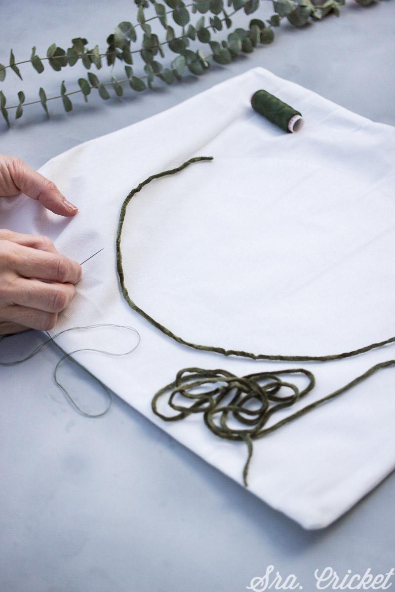 como hacer un cojin personalizado
