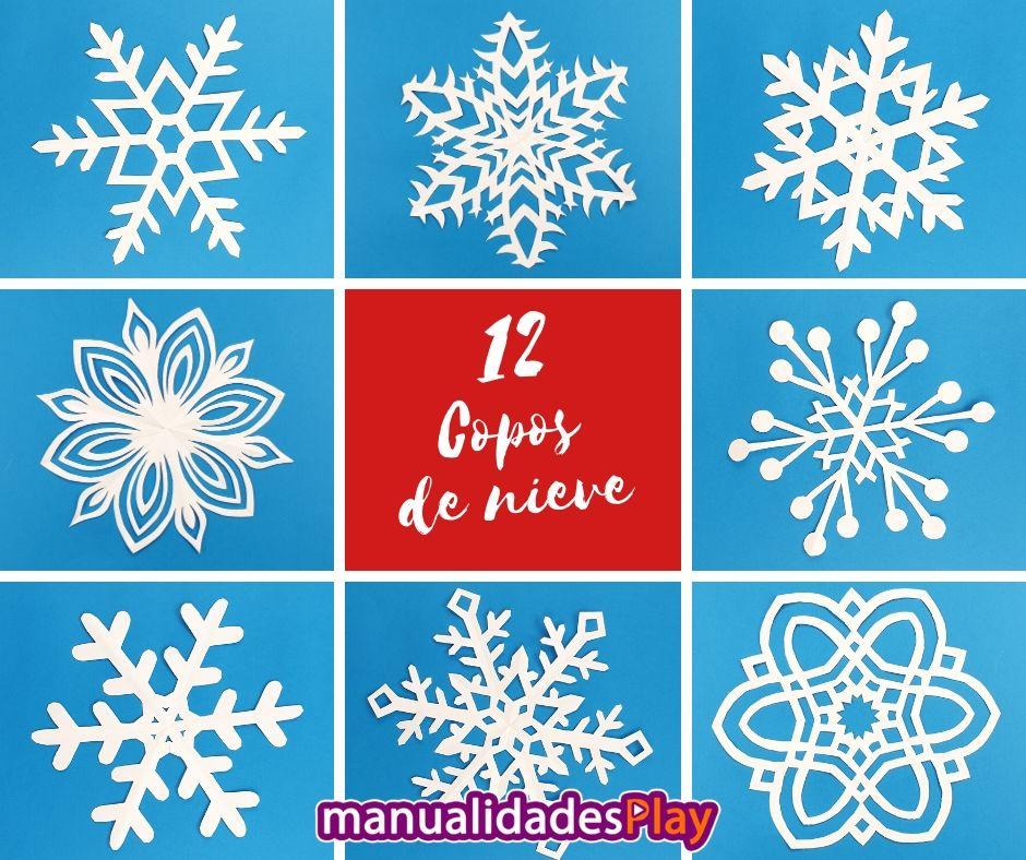 Manualidad para realizar copos de nieve de papel