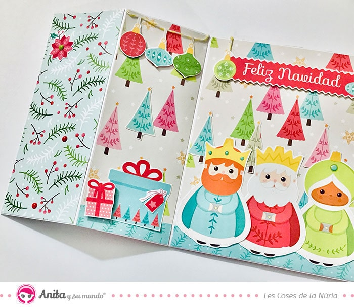 decoraciones navideñas faciles con papel e hilo