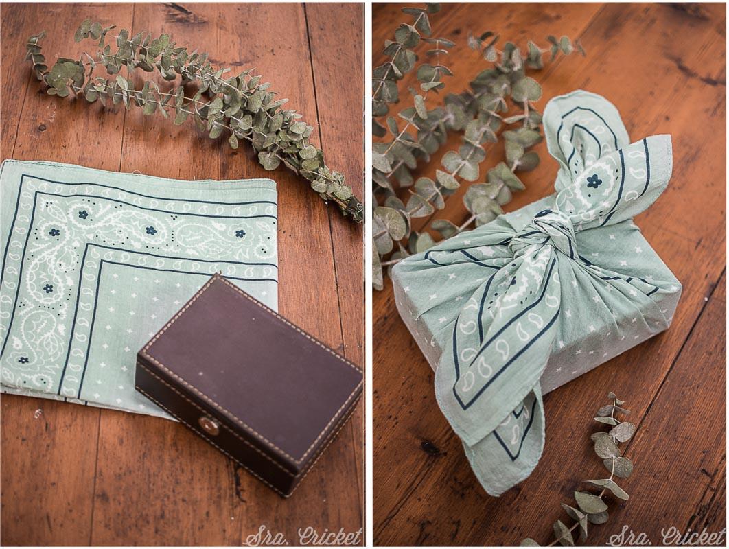 envolver regalos con pañuelos de tela