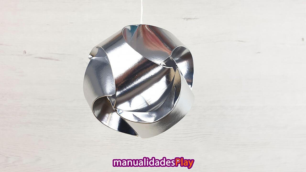 Esfera de Navidad de 3 piezas de papel