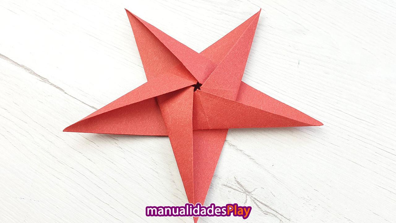 Estrella de papel de 5 puntas fácil