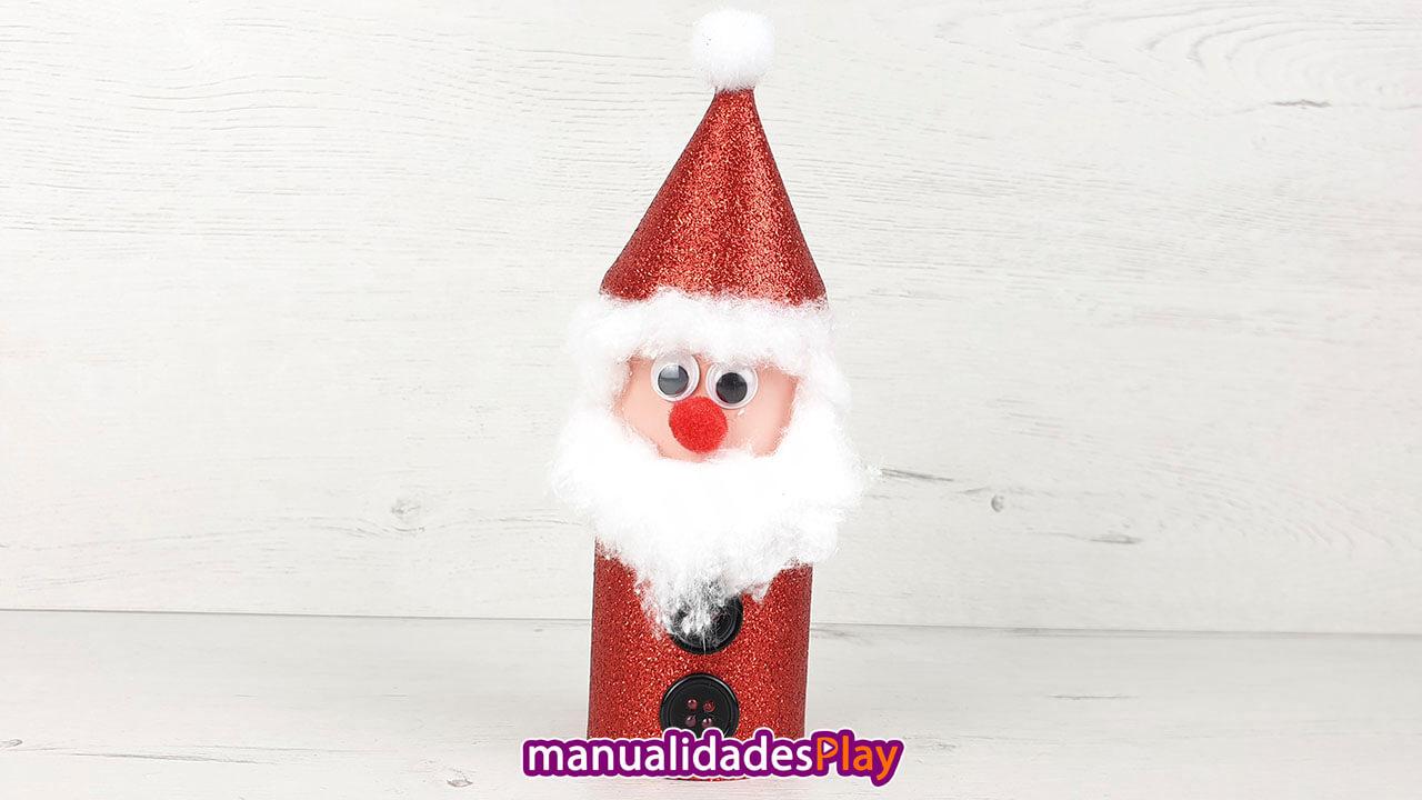 Papa Noel con rollo de papel higiénico para Navidad
