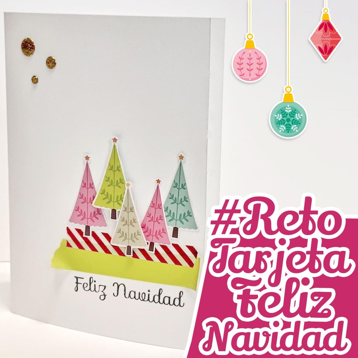 reto tarjeta feliz navidad