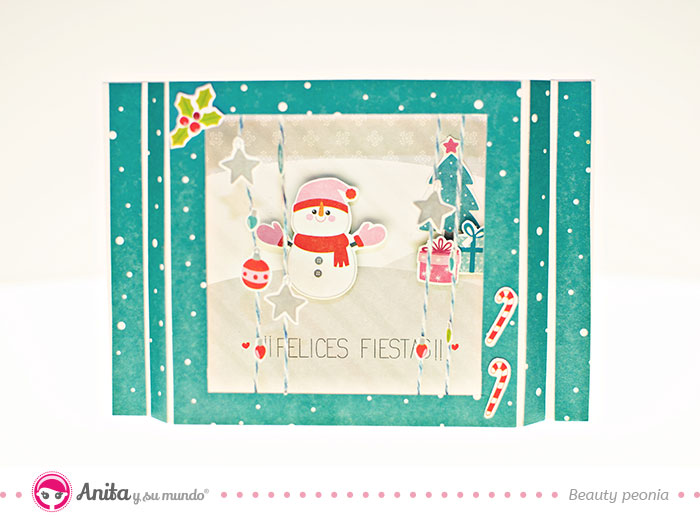 cómo hacer una tarjeta diorama navideña