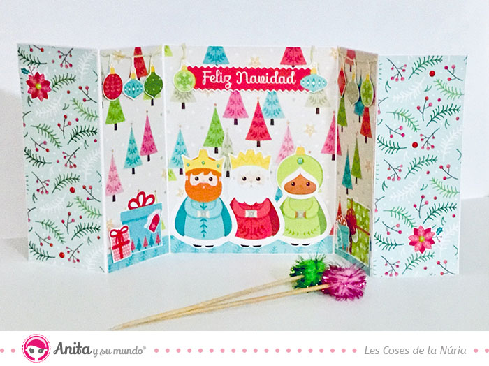 tarjeta double accordion gatefold card