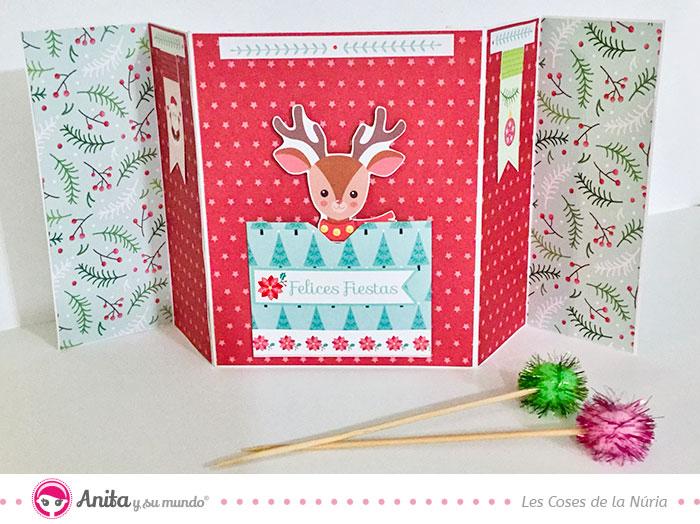 tarjeta navidad reno