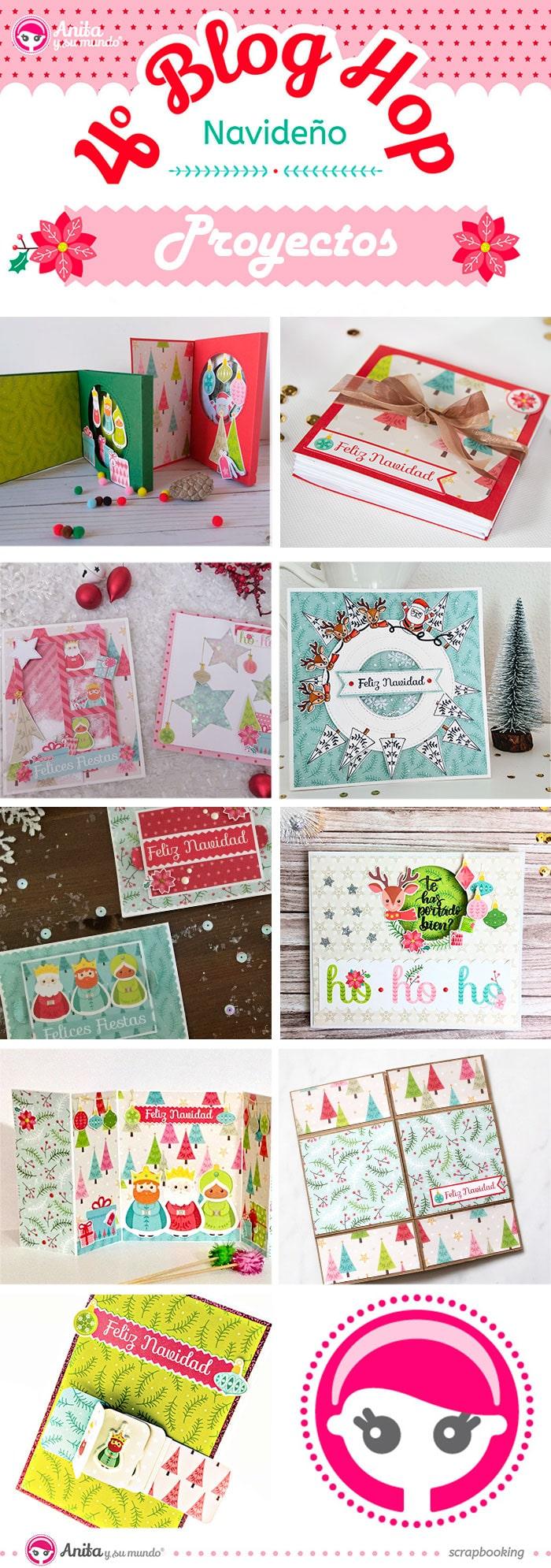 tarjetas navidad cuarto blog hop de anita y su mundo