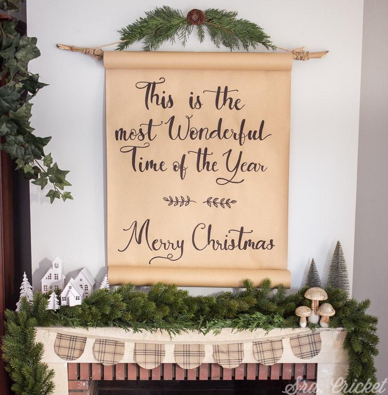 cartel de navidad hecho a mano