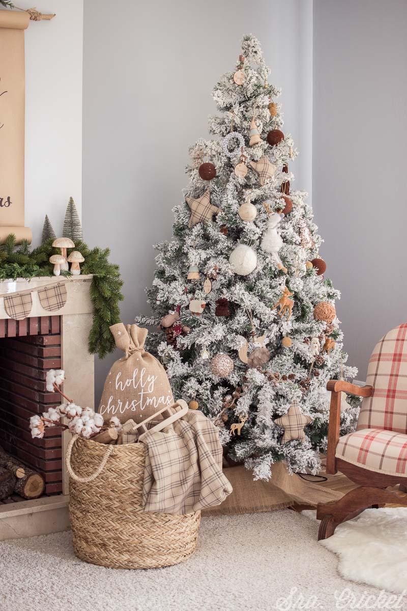 decoracion navidad tonos marrones