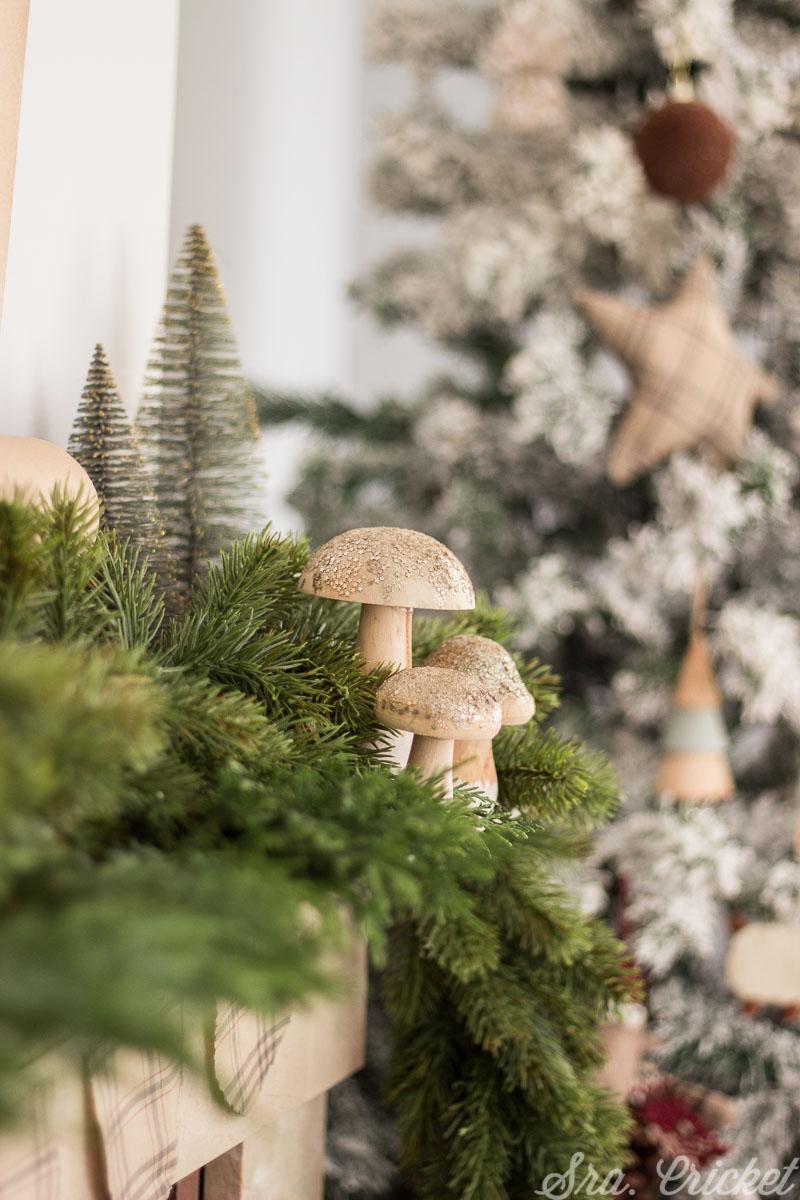 decoracion navideña tonos marron