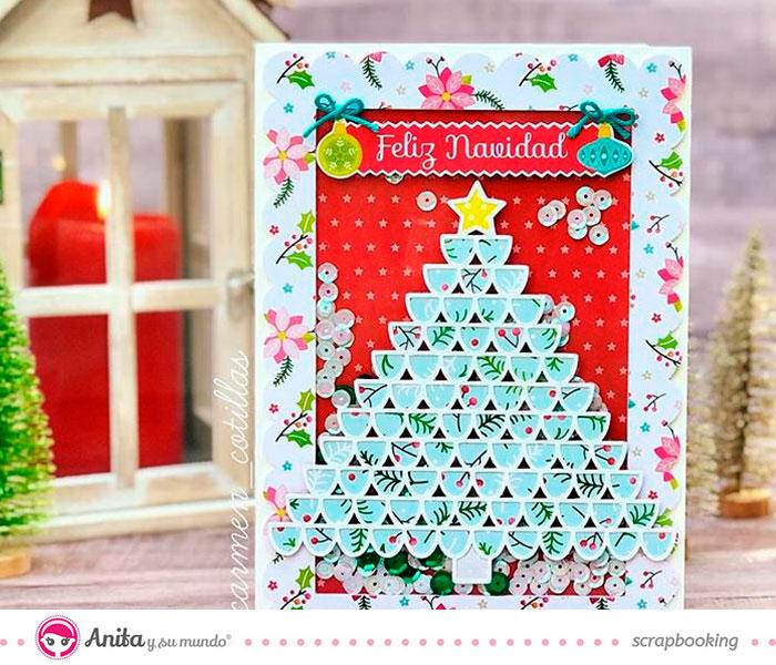 reto de noviembre tarjeta navideña