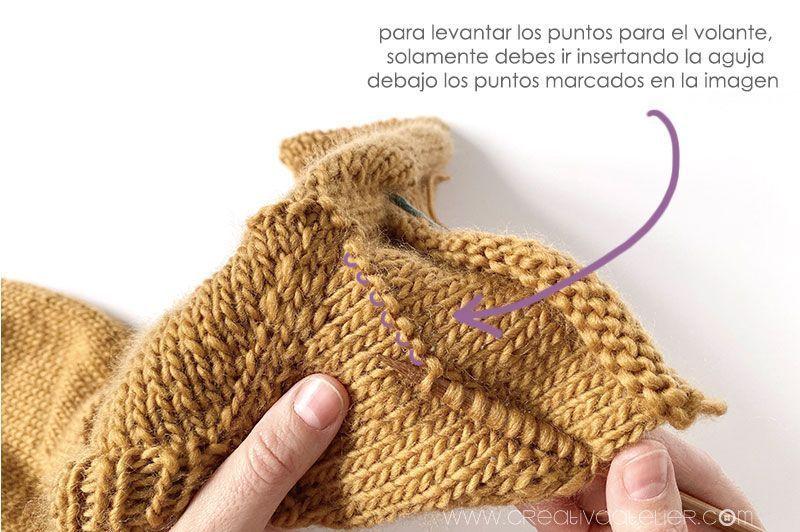 Cómo tejer un jersey de punto con volante para niña -Patrón y tutorial- Teje el volante