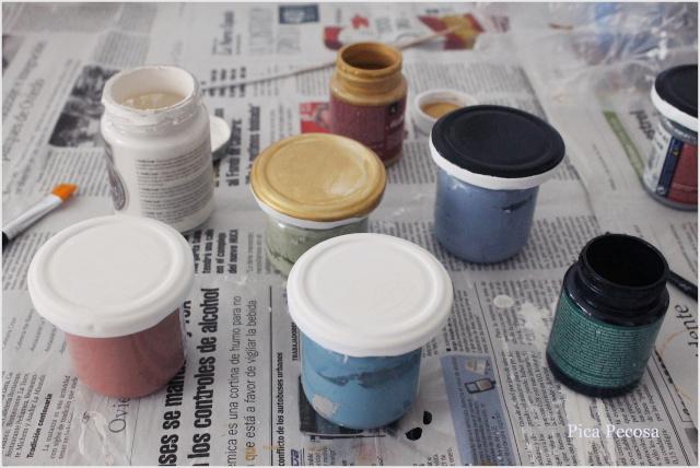 tapas-botes-pintadas-decoracion-navidad-falsas-rodajas-madera-pintura
