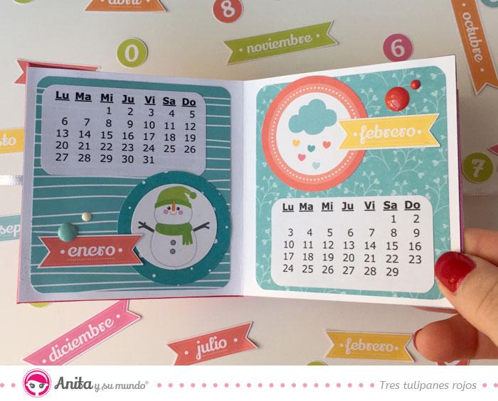 calendario de papel