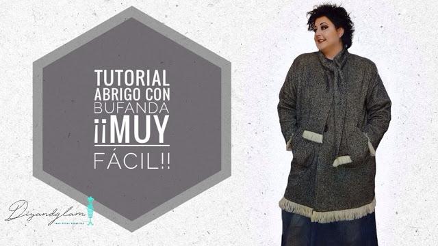 Tutorial abrigo con bufanda