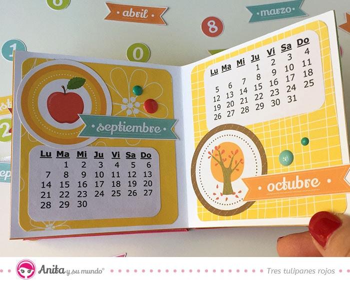 como hacer un calendario de papel