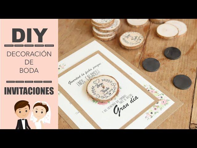 DECORACION DE BODA | COMO HACER INVITACIONES | STEFFIDO