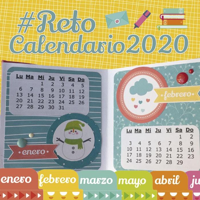 Reto de scrapbooking calendario 2020