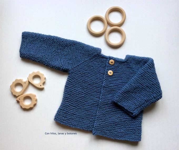 Con hilos, lanas y botones: DIY chaqueta de punto para bebé paso a paso (patrón gratis)