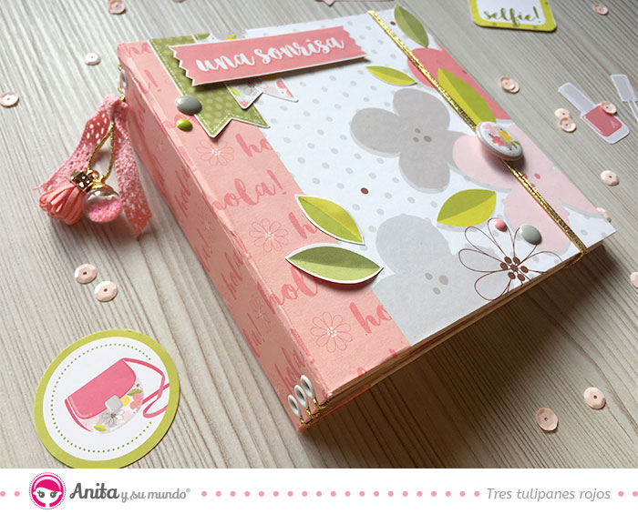 mini album scrapbooking con paginas bolsillo