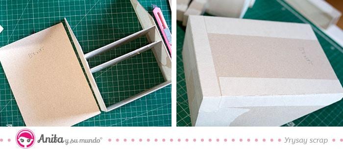como unir partes para hacer una torre de carton