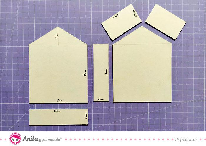 medidas casa carton diy